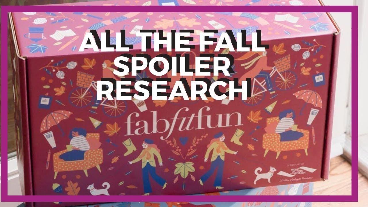 Fabfitfun fall 2020 spoilers
