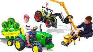 Best Kidscoco Club Videos of 2019 Unboxing and Ride on Cars Tractors Dump Trucks Power Wheel Toys