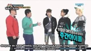 [sub español] 130403 Weekly Idol Shinee (1/2)