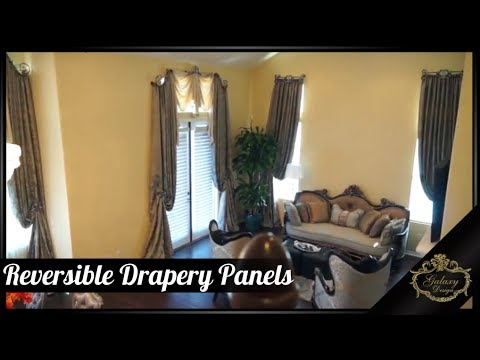 Luxurious Reversible Drapery Panels - Change Your Drapes To Suit Your Mood! Galaxy Design Video #155