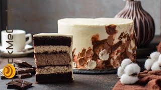 ШОКОЛАДНО КОФЕЙНЫЙ ТОРТ С ШОКОЛАДНЫМ ЧИЗКЕЙКОМ Рецепт кофейного крема Шоколадный чизкейк