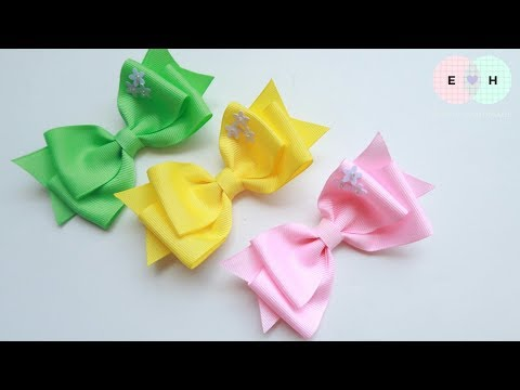 Laço De Fita 🎀 Ribbon Bow Tutorial #62 🎀 DIY by Elysia Handmade