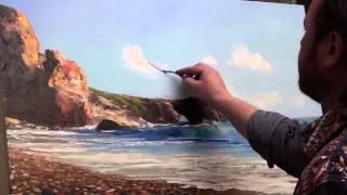 Видеоурок морской пейзаж с чайкой