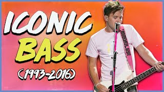 Mark Hoppus' Most ICONIC BASS LINES Through The Years (1993-2016)