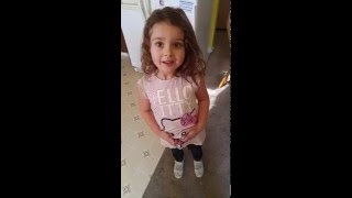 Little Girl Disappointed with Pregnancy Reveal