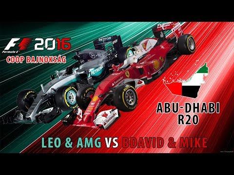 F1 2016 - Coop Bajnokság L!VE - Leo & AMG & BDávid & Mike - Abu-Dhabi S01-R20 #22
