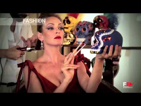 "UMA THURMAN for ""CAMPARI CALENDAR 2014"" Backstage Photoshoot by Fashion Channel thumbnail"