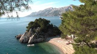 Brela beaches: Podrace, Scit, Jakirusa Makarska Riviera plaza FULL HD 2011