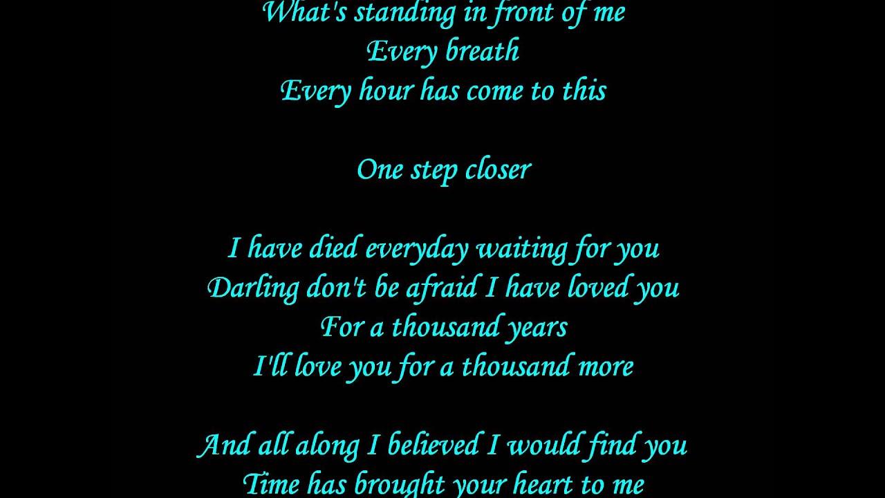 A Thousand Years lyrics - Christina Perri - YouTube
