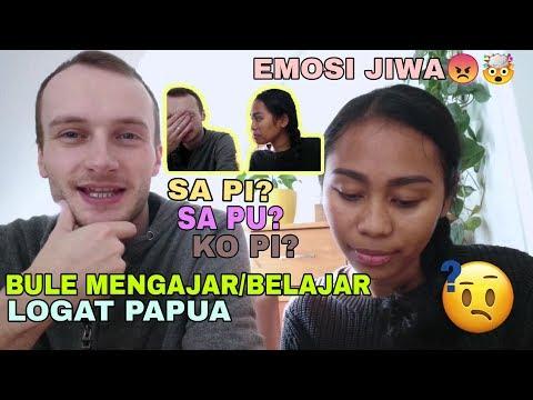 BULE JERMAN BELAJAR LOGAT PAPUA