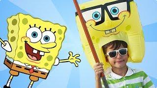 Губка Боб на пляже. Игровой Набор Sponge Bob Слайм и Мячик Антистресс | Весь СПАНЧ БОБ из toy ru