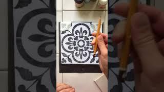 мастер-класс по росписи плитки в технике