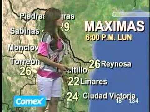 Mabel Salinas Hot Mexican  Weather Girl