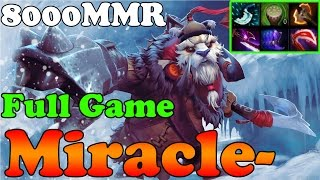 Dota 2 - Miracle- 8000MMR plays Tusk - Full Game - Ranked Match Gameplay