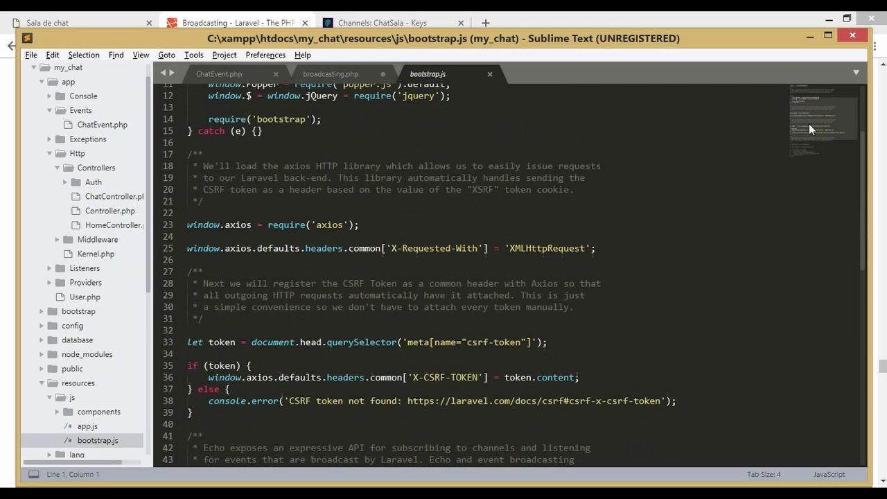 Chat en tiempo real con Laravel 5 7, Bootstrap 4, vue js y Mysql |  Configurar pusher con Laravel 5 7