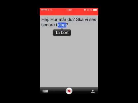 Dragon Dictation App - tal till text instruktion