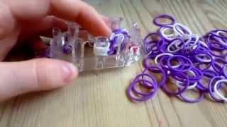 Видео-урок по плетению браслета из резинок (цепочка)