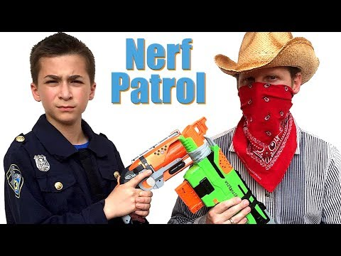 Nerf Patrol Vs The Bank Robbers