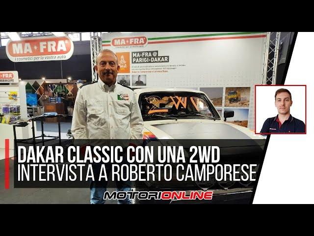 DAKAR CLASSIC CON UN PEUGEOT 2WD!!! | L'intervista al pilota Roberto Camporese