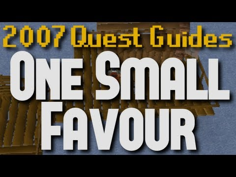 Runescape 2007 Quest Guides: One Small Favour