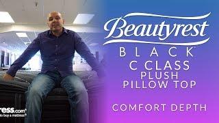 beautyrest black c class plush pillow top mattress comfort depth 2
