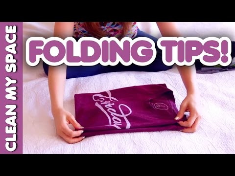 Folding Tips: Dress Shirts, Hoodies, Towels, T-Shirts & More! (Clean My Space)