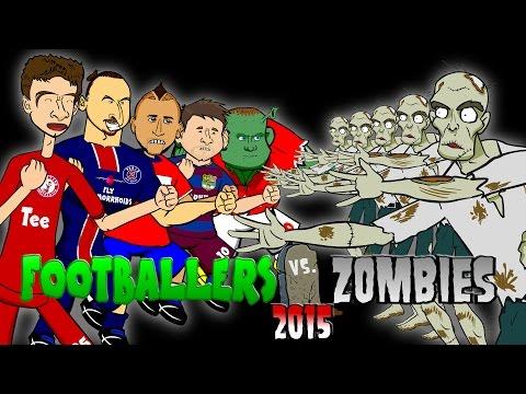 Footballers vs Zombies - 2015! HALLOWEEN SPECIAL! (Messi, Muller, Rooney, Zlatan, Vidal!)