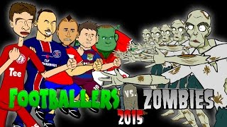 Footballers vs Zombies - 2015! HALLOWEEN SPECIAL! (Messi, Muller, Rooney, Zlatan, Vidal!)