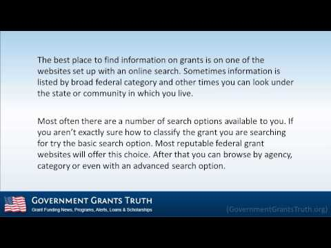 How to Apply for Federal Government Grants