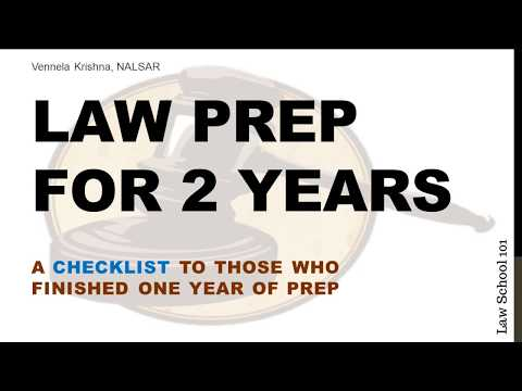 Checklist for Law Aspirants After 1 year of Prep