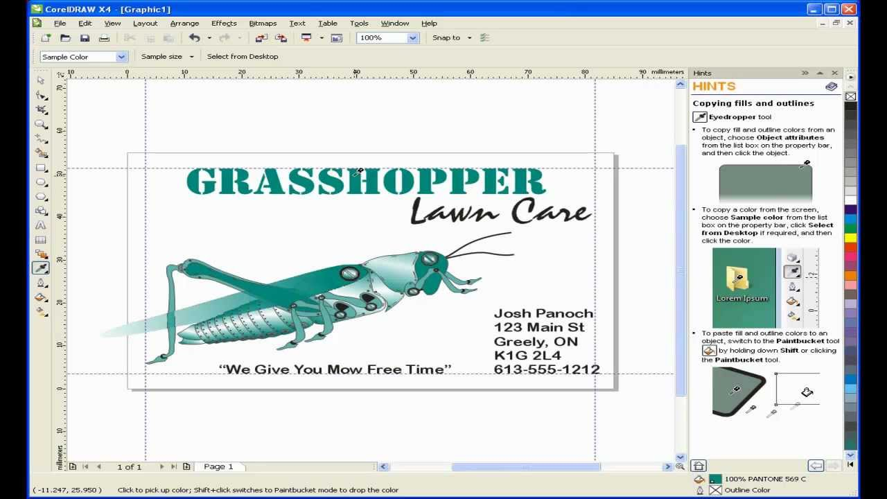 Create a business card with coreldraw youtube create a business card with coreldraw reheart Images