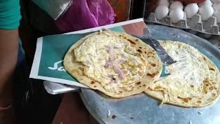 Hindistan Sokak Yemekleri ( Yumurtalı gözleme/ egg roll)