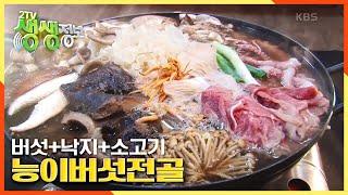 [2TV 생생정보] 14가지 버섯 총집합! 버섯+낙지+소고기의 향긋한 ☆능이버섯전골☆ | KBS 210113…