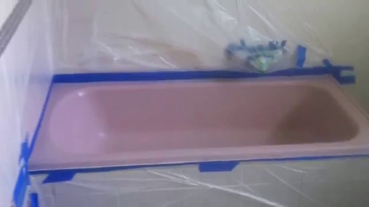 How To Paint A Bathtub (PINK Tub) To White   YouTube