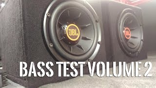 Dual JBL Club 1024 Subwoofer - BASS TEST Vol. 2