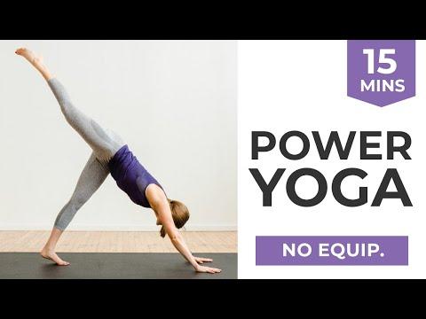 Power Yoga | 15-Minute Yoga Sculpt At Home (part workout class, part yoga!)