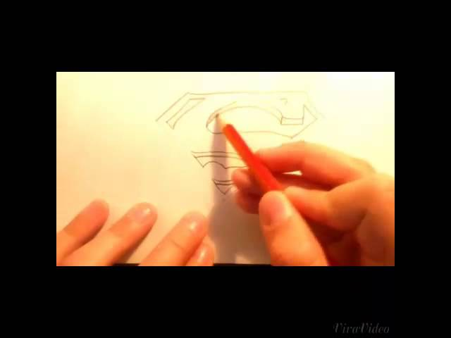How To Drawing The Superman Logo 3D