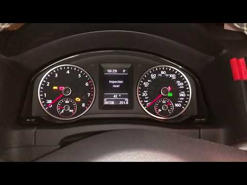EASY Reset/ Turn off VW 2016 Tiguan Inspection Now Light/ Notification