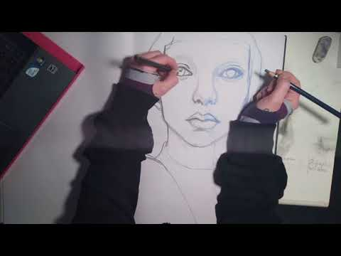 Speed Painting – Bowl Girl – Drawing by Giorgi_e_Frost – Music by Senjens –