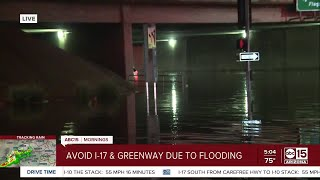 Tuesday morning storms bring flooding to I-17 underpass