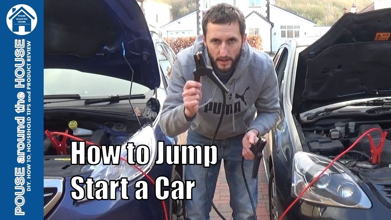 How To Jump Start A Car With Booster Cables Or Jump Leads Start A