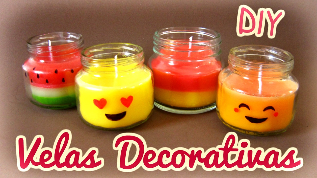 Como Fazer Velas Decorativas E Perfumadas Diy Candle Youtube