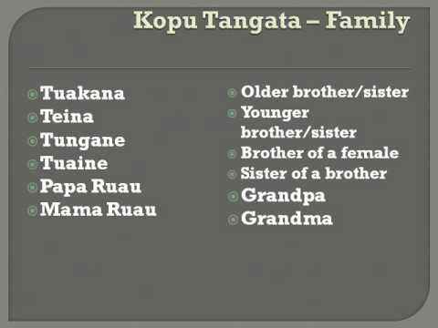 Mama Mata's Cook Island Language Class - Kopu Tangata - Family