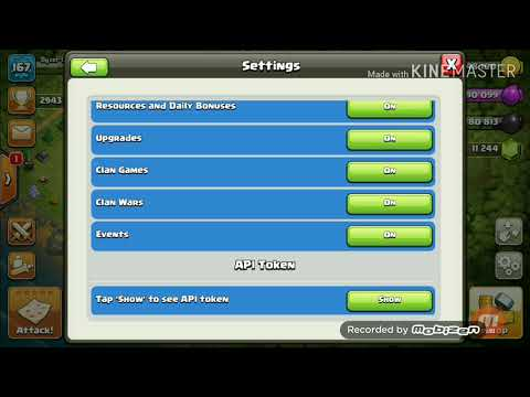 What Is API Token And Dark Clouds.Clash Of Clans. Coc