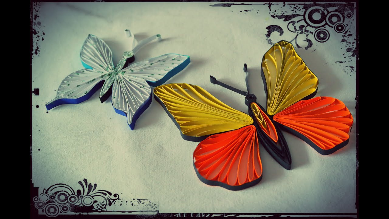 How to make quilling butterfly quilling tutorial youtube for Quilling how to