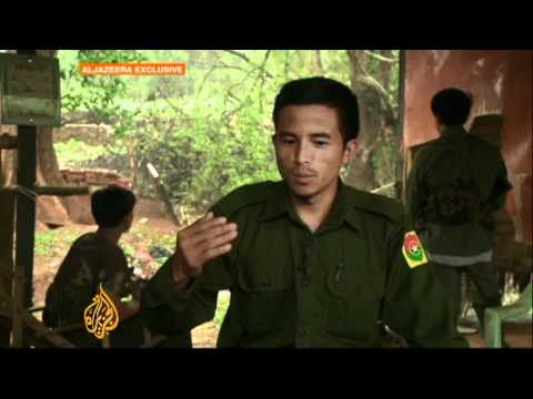 Rebel armies fighting against Myanmar government