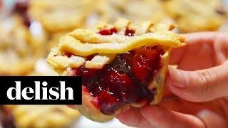 How To Make Muffin Tin Cherry Pies | Delish