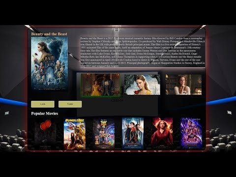 How To Create A Movie WebSite | Using HTML And CSS | UI Design