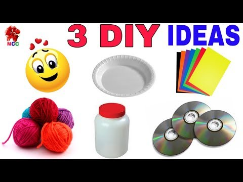 3 DIY wall hanging craft ideas | Home decoration idea | Best out of waste | DIY arts and crafts