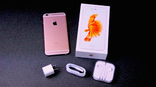 Rose Gold iPhone 6S Plus Unboxing